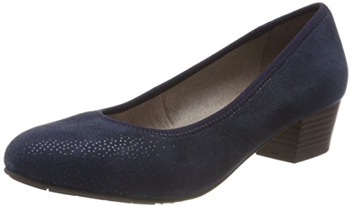 Jana Damen 22303 Pumps, Blau (Navy Struct.), 40 EU