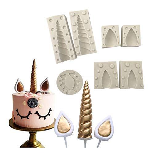 Tumao 3d molde de silicona moho de silicona forma de unicornio DIY molde para repostería, apto ad altas y bajas temperature-decorazione de tartas