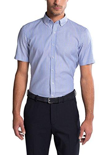 eterna Kurzarm Hemd Slim Fit Oxford Gestreift (Oxford-hemd Button-down-gestreiftes)