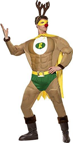 SMIFFYS Smiffy's - Costume da Super-renna, Uomo, taglia: M