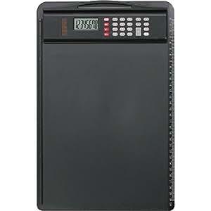 ALASSIO porte-bloc avec calculatrice amovible Dual Power, noir