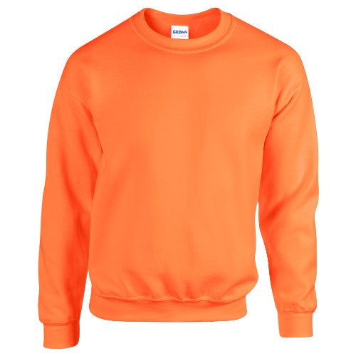 Gildan Heavy Blend Sweatshirt mit Rundausschnitt (S) (Leuchtorange) S,Neonorange - Gildan Hoodie Sweatshirt