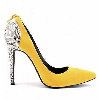 Neri Tacchi Base Casuali A Yellow Spillo Shoeshaoge Donna Pompe Gialli Scarpe Ha Estate Di Da 7BPARqf