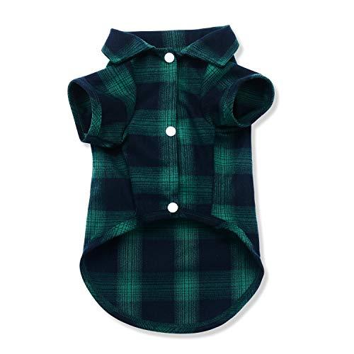 Quno Hunde-Shirt, Karo-Poloshirt, T-Shirt, Pullover, Unterziehshirt, Katze, Welpen, niedliches Tragen, stilvoll, gemütlich, Halloween, Weihnachtskostüme