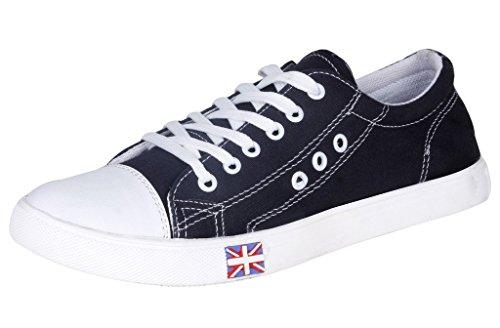 Kraasa Men's Black Denim Sneakers ( Uk 10 Tsz107)