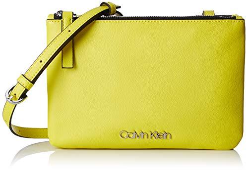 Calvin Klein Damen Ck Must Ew Crossbody Umhängetasche, Grün (Lime), 1x10x23 cm (Crossbody Umhängetasche)