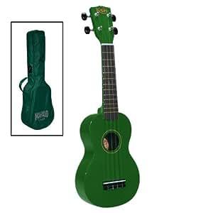 Korala Sopran-Ukulele m. Tasche grün