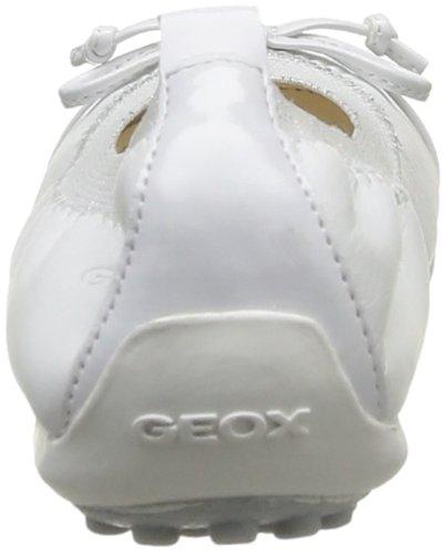 Geox J PIUMA BAL.F, Mädchen Geschlossene Ballerinas Weiß (WHITEC1000)