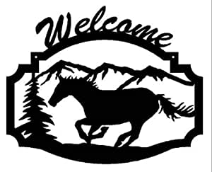 Lasaani Running Horse ACP Wall Plaque Painted Cutout Stickable Home Decor Wall Art (Glossy Black), WP041