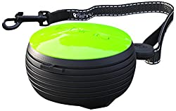 Lishinu Hand Free Retractable Dog Lead, Neon Green