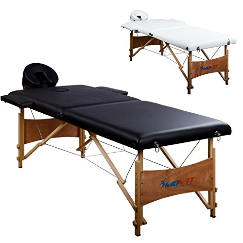 MOVIT Mobile Massageliege inkl. Tasche, Kopf- und Armstützen, Vollholzgestell, Farbwahl, schadstoffgeprüft