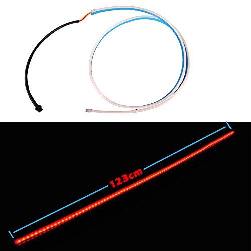 Preisvergleich Produktbild Omotor 48 Inch LED Tailgate Strip Tail Box Light Red Blue Turning Signal Stop Reverse Light for Ford GMC Chevy Dodge Toyota Nissan Honda Dodge Ram Truck SUV 4x4