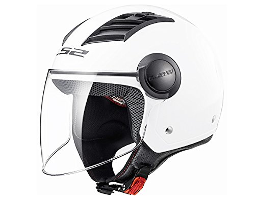 LS2 Casco Moto Of562 Airflow Gloss White Long S