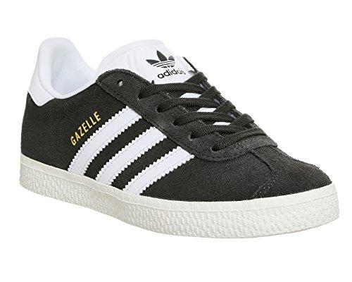 Adidas Gazelle C, Sneaker Unisexe - Enfants Gris (dgh Solid Grey / Ftwr White / Gold Met.)