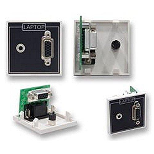 Modul VGA + 3,5mm, 90° ein Modul kann das gemischt und abgestimmt mit anderen zu Passform in einer Vielzahl von Rahmen. 50mm VGA und 3,5mm Klinkenbuchse Modul mit 90° Adapter 50 Mm-modul