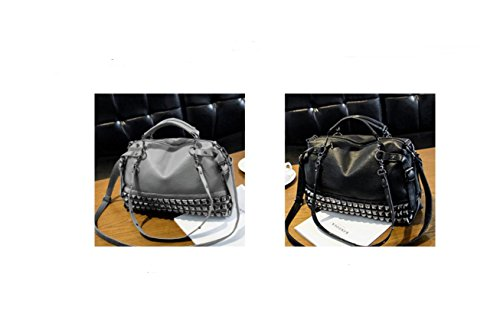 X&L Frauen ist Mode niet Motorrad-Tasche Schulter Handtasche Diagonal-Tasche gray