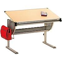 Interlink Plato Desk 73 x 62-93 cm Metal MDF Beech Veneer