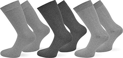 normani 9 Paar Herren Jeans Socken aus Baumwolle mit Elasthan in Übergröße Farbe Grau-Sortiert