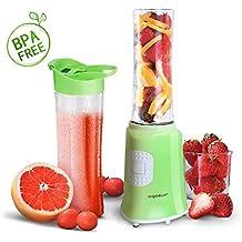 Aigostar Summer 30IWW - Batidora de vaso portátil para smoothies, batidos y picar frutas,