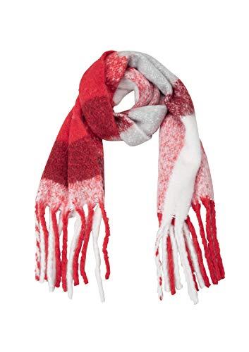s.Oliver RED LABEL Damen XXL-Schal aus Bouclé-Strick red check 1 -