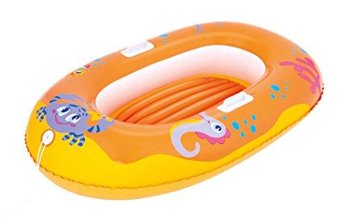 Bestway 34009g - Poolboot Happy Crustacean, 135 x 89 cm, gelb, Schlauchboot, Badeboot