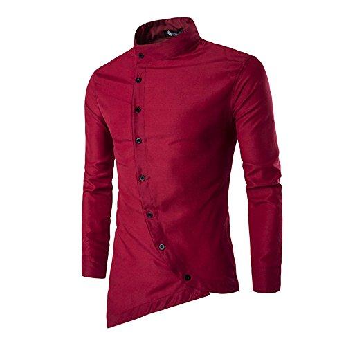 Vin beauty wlgreatsp Gericht Stil Herren Schlank Knopfleiste Personalisiert Langarm Shirts (Button-down-nicht-eisen-pinpoint)