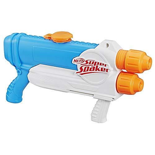 NERF Super Soaker - Barracuda Wasserblaster Spritzpistole mit 2 Wasser-Strahlen