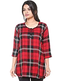 c27c28f5764 EASY 2 WEAR ® Women Checks Tunic Top (Sizes S to 6XL) Plus Sizes