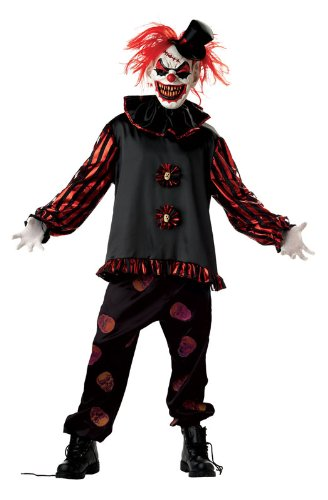 Mens unheimlich Carver Killer Clownskostüm Large (41-43