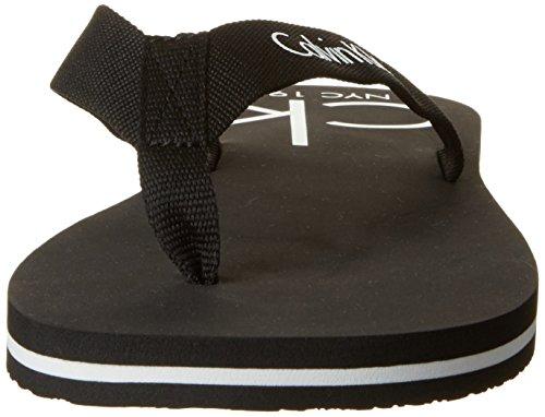 Calvin Klein Herren Ff Sandal Webbing T-Spangen Schwarz (Black 001)