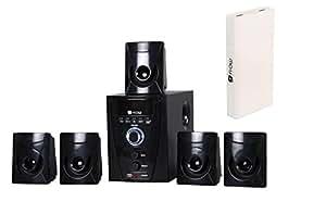 Flow Flash Bluetooth 5.1 Multimedia Speaker System with Power 13000mAh Power Bank (Black)