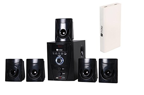 Flow Flash Bluetooth 5.1 Multimedia Speaker System with Power 13000mAh Power Bank (Black)