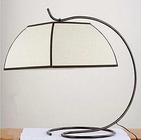 H&M Metal iron frame lamp linen shade