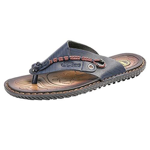 Herren Outdoor Sandalen Pantoletten mit Fußbett aus Naturkork Trekking Casual Schuhe Schnell Trocken Toecap Sommer Schuhe