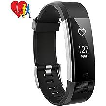 Pulsera Actividad Inteligente Mpow, Monitor de Actividad Ritmo Cardíaco Calorías  Sueño, Pulsómetro Reloj con 14 Modos de Ejercicio, GPS Seguimiento de Rutas, Alarmas, Notificación, Control de Música y Cámara Fitness Tracker