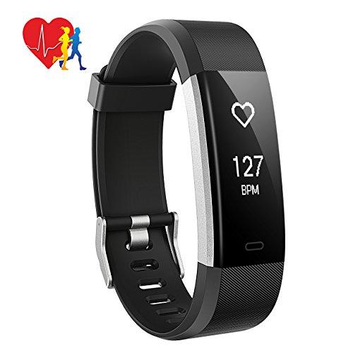 Mpow Orologio Fitness Tracker, Activity Tracker IP67 Cardiofrequenzimetro da Polso Contapassi con 14 Modalità Sportive, Notifiche Chiamate/SMS/Whatsapp per Android iOS per Regalo di Natale, Nero