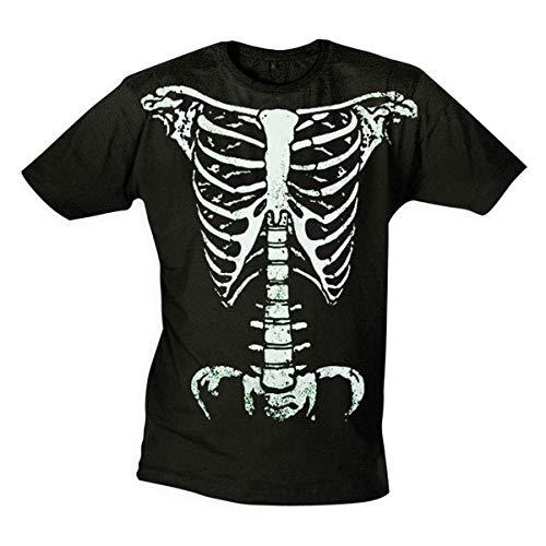 Halloween T-Shirt Skelett Glow in The Dark - LEUCHTET im Dunkeln (XXL)
