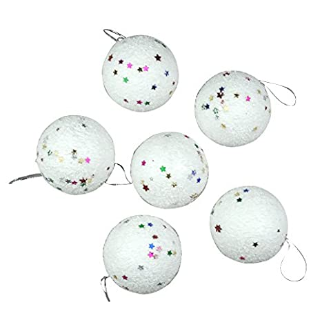 12Pcs Colorful Snowball Christmas Tree Hanging Ornament Decoration Foam Products Gifts For Yard Garden Home
