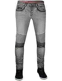 trueprodigy Casual Hombre Marca Jeans Pantalon Elastica Ropa Retro Vintage  Rock Vestir Moda Deportivo Vaquero Slim 6f258a96aab