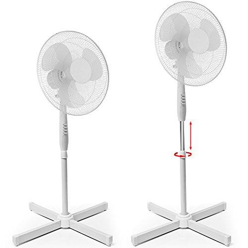 Standventilator Ventilator Luftkühler Klimagerät Gebläse oszillierend 42W Ø 43cm