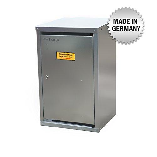 1 x 11 kg Propangas Flaschenschrank / Gasflaschenschrank verzinkt OHNE RÜCKWAND (geeignet für 3-, 5, 10, 11 kg Gasflaschen - Gasschrank Schutzschrank)