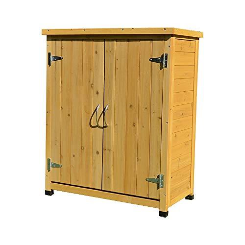 Armario Exterior Para Muebles de Jardín Herramienta Caja de almacenamiento al aire libre de zapatos...