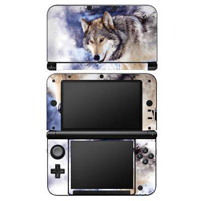 nintendo-3-ds-xl-case-skin-sticker-aus-vinyl-folie-aufkleber-schnee-wolf-hund