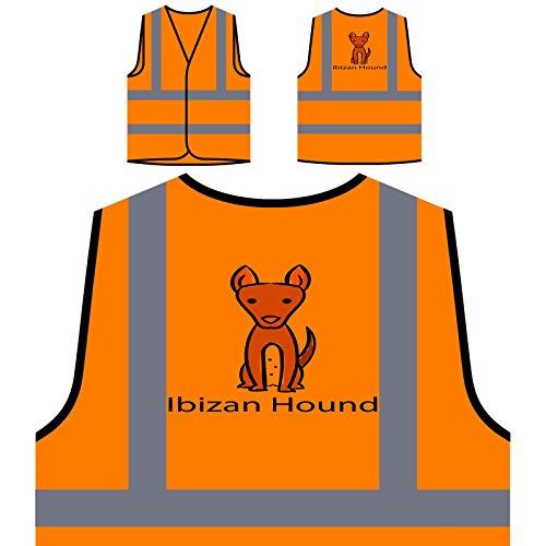 Ich Liebe Hunde Ibizan Hound Dog Liebhaber Personalisierte High Visibility Orange Sicherheitsjacke Weste c881vo -