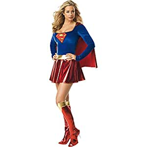 Rubie's Official Ladies Supergirl Dress Adult Costume - X-Small
