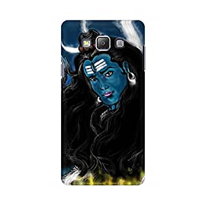 Mobicture God Shiva Bluish Abstract Designer Printed Hard Case Cover - [Hard Poly Carbonate] [Slim-fit] [Shock-Proof] Back Cover for Samsung On 5