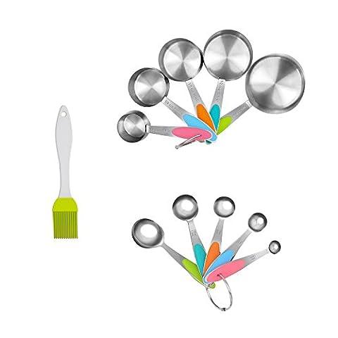 Inmaker Tasses à mesurer et cuillères Ensemble,