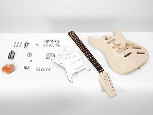 Set aus 2 x Gitarrenbausätze GYVER ONE, natur - Gitarrenkit / Gitarrenset zum Selberbauen - Bausatz für Bastler - klangbeisser