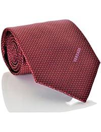 Versace Men's Circle Patterned Mini Floral Silk Necktie