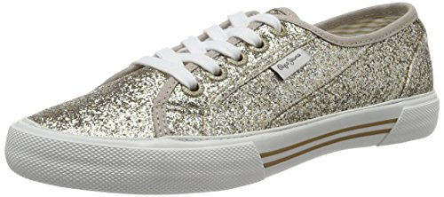 Pepe Jeans Aberlady Flash, Sneakers Basses Femme, Silber